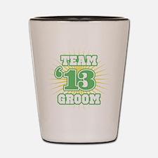 Sage Emblem Star Groom 12 Shot Glass