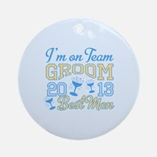 Best Man Champagne 2013 Ornament (Round)