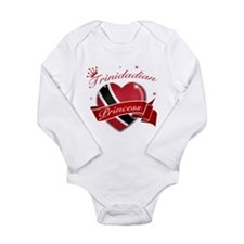 Trinidadian Princess Long Sleeve Infant Bodysuit
