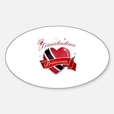 Trinidadian Princess Sticker (Oval)