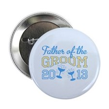 "Father Groom Champagne 2013 2.25"" Button"