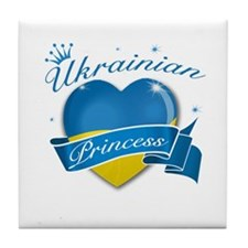 Ukrainian Princess Tile Coaster