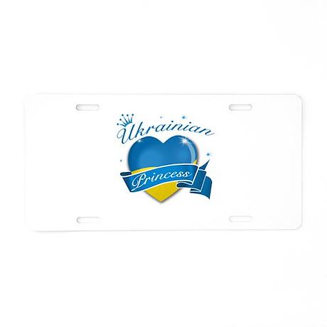 Ukrainian Princess Aluminum License Plate