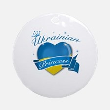 Ukrainian Princess Ornament (Round)