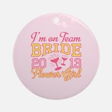 Flower Girl Champagne 2013 Ornament (Round)