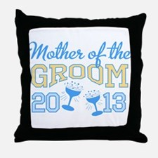 Mother Groom Champagne 2013 Throw Pillow