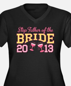 Step-Father Bride Champagne 2 Women's Plus Size V-