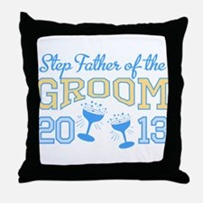 Step-Father Groom Champagne 2 Throw Pillow
