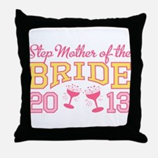 Step-mother Bride Champage 20 Throw Pillow