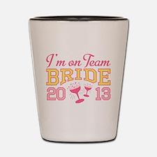 Team Bride Champagne 2013 Shot Glass