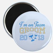 "Team Groom Champagne 2013 2.25"" Magnet (10 pack)"