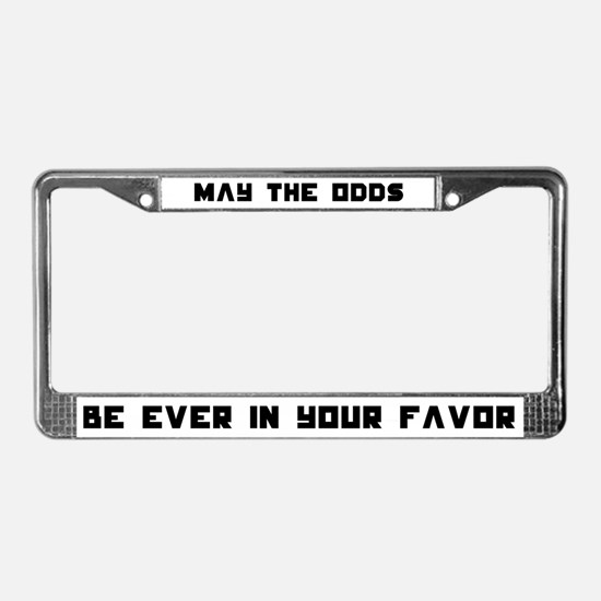 May the Odds be Ever in Your License Plate Frame