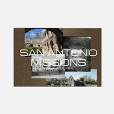 ABH San Antonio Missions Rectangle Magnet