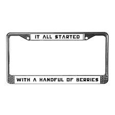 Handful of Berries License Plate Frame