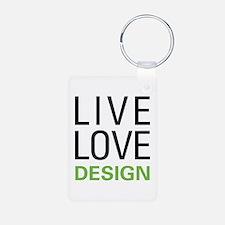Live Love Design Aluminum Photo Keychain