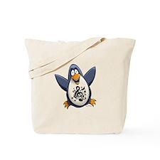 Musical Penguin Tote Bag