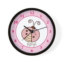 Pink Ladybug Wall Clock - Ryleigh