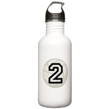 Volleyball Player Number 2 Water Bottle