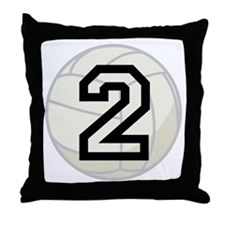 Volleyball Player Number 2 Throw Pillow