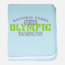 Olympic National Park WA baby blanket