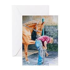 Horse Pedicure Greeting Card