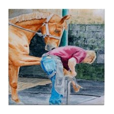 Horse Pedicure Tile Coaster