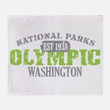 Olympic National Park WA Throw Blanket