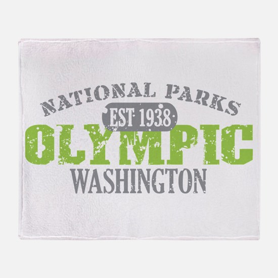 Olympic National Park WA Throw Blanket