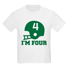 Four Year Old Football T-Shirt