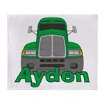 Trucker Ayden Throw Blanket