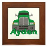 Trucker Ayden Framed Tile
