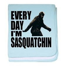 Every Day I'm Sasquatchin baby blanket