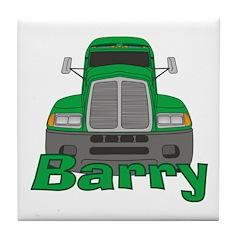 Trucker Barry Tile Coaster