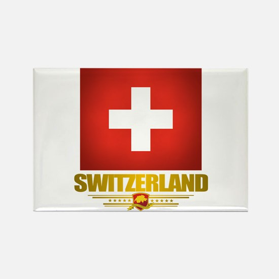 """Swiss Pride"" Rectangle Magnet"