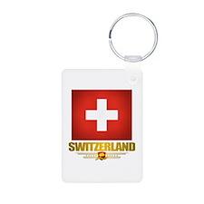 """Swiss Pride"" Aluminum Photo Keychain"