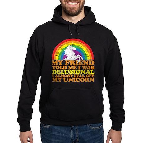 fell off my unicorn Hoodie (dark)