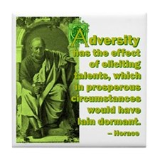 Adversity Elicits Talent Tile Coaster