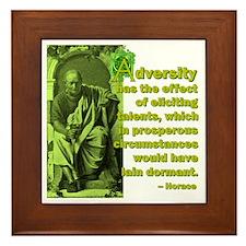 Adversity Elicits Talent Framed Tile
