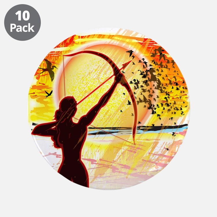 """Katniss Radiant as the Sun 3.5"""" Button (10 pack)"""