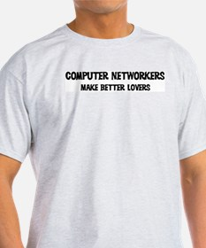 Computer Networkers: Better L Ash Grey T-Shirt