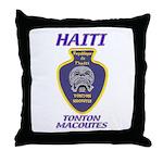 Haiti Tonton Macoutes Throw Pillow