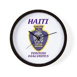 Haiti Tonton Macoutes Wall Clock