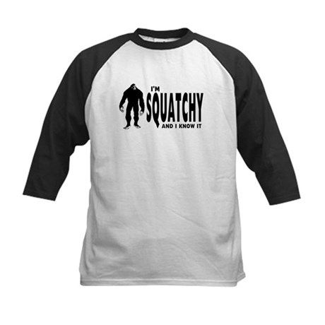 I'm Squatchy and I know it Kids Baseball Jersey