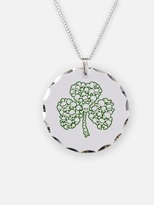 St. Patrick's Day Shamrock Skulls Necklace