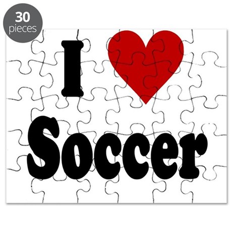 I Love Soccer Puzzle