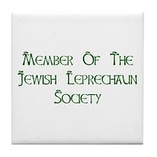 Jewish Leprechaun Society Tile Coaster