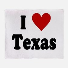 I Love Texas Throw Blanket