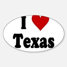 I Love Texas Sticker (Oval)