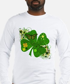 Fancy Irish 4 leaf Clover Long Sleeve T-Shirt