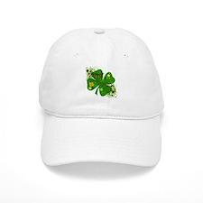 Fancy Irish 4 leaf Clover Baseball Cap